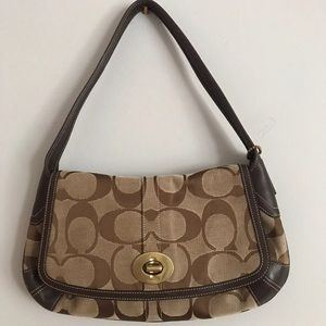 Coach signature hobo purse with duster bag
